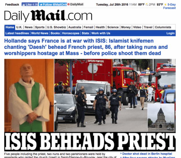 BREAKING: Catholic Priest Beheaded by ISIS in France, nuns and worshippers held hostage
