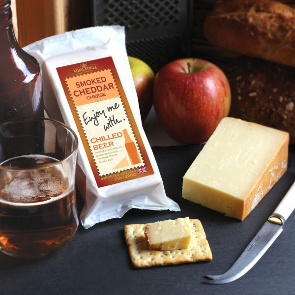 Somerdale Enjoy Me With Beer Smoked Cheddar Cheese
