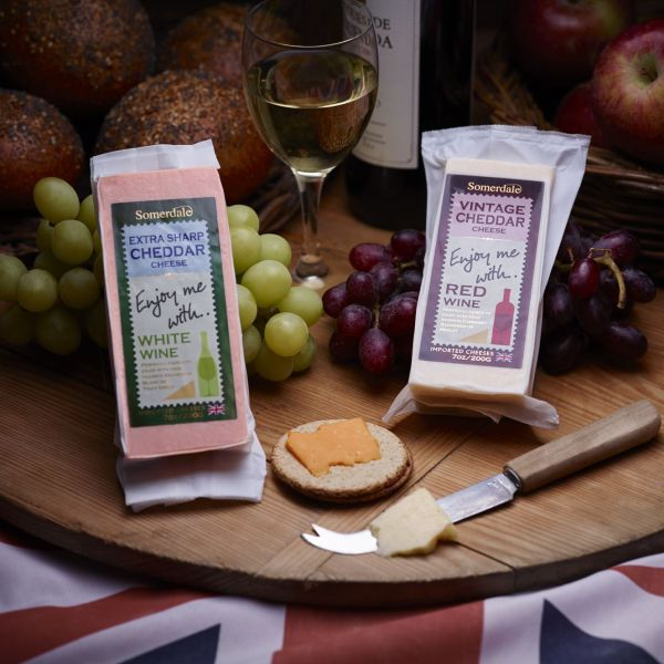 The Enjoy Me With range of British Cheese selected for wine and beer pairing.