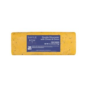 Savile Row Double Gloucester with Chives and Onion