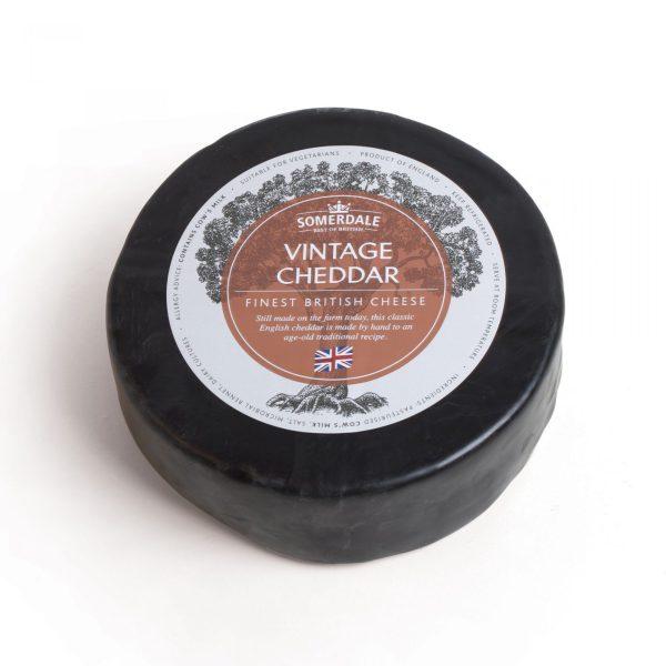 Somerdale Black Waxed Vintage Cheddar