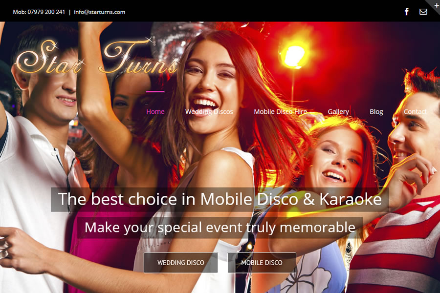 Star Turns Mobile Disco Website Designers in Somerset
