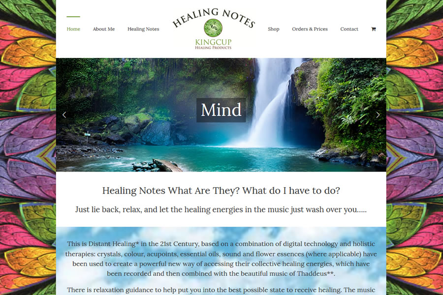 Healing Notes - eCommerce Website Design