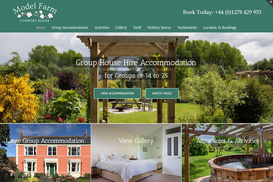 holiday accommodation website designers