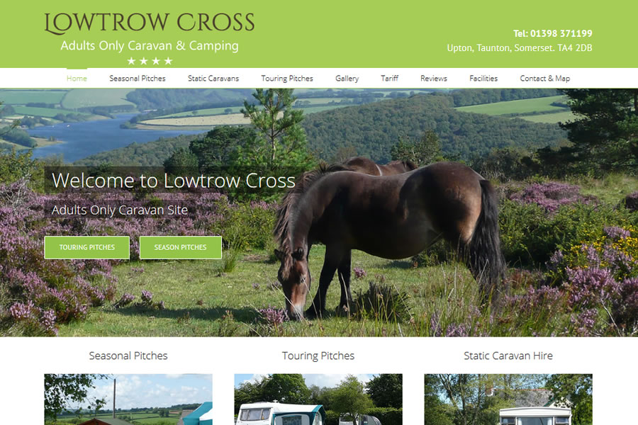 Lowtrow Cross Caravan Park website Designers