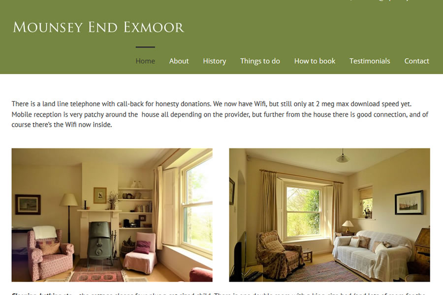 Cottage Website Designers in Exmoor