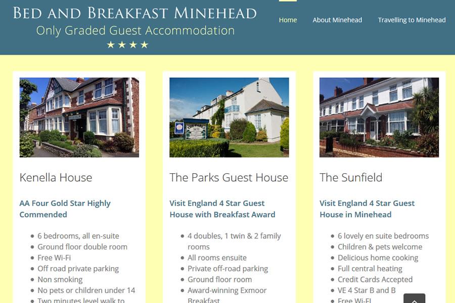 Bed and breakfast website designers in Somerset