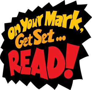 Logo for On Your Mark, Get Set, Read