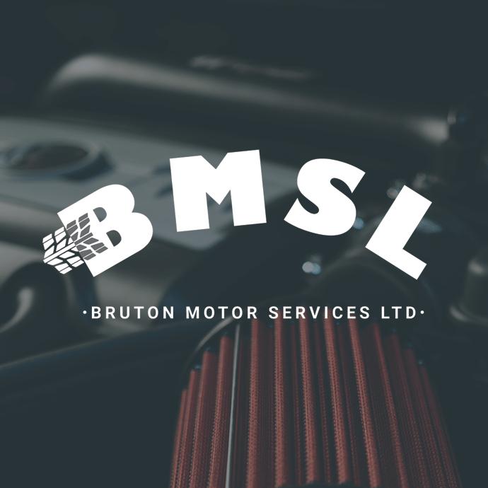 Bruton Motor Services Ltd logo deign
