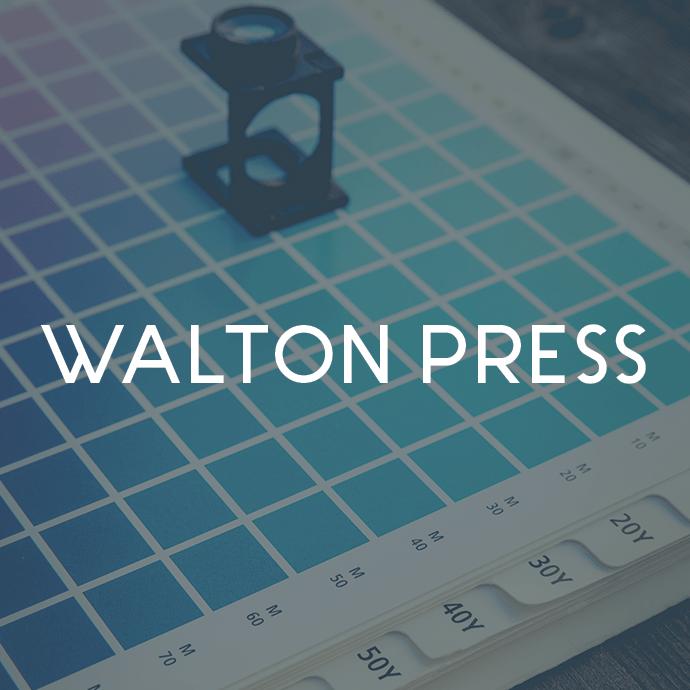 Walton Press logo design