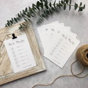 Wedding timeline of the day flatlay