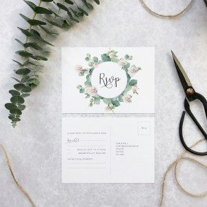 Wedding RSVP Flatlay
