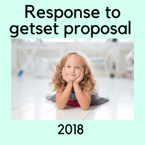 response to getset proposal