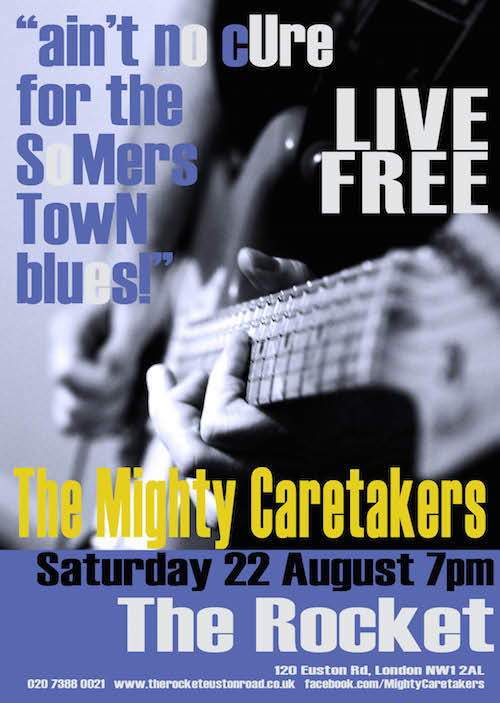 Mighty Caretakers poster for event.