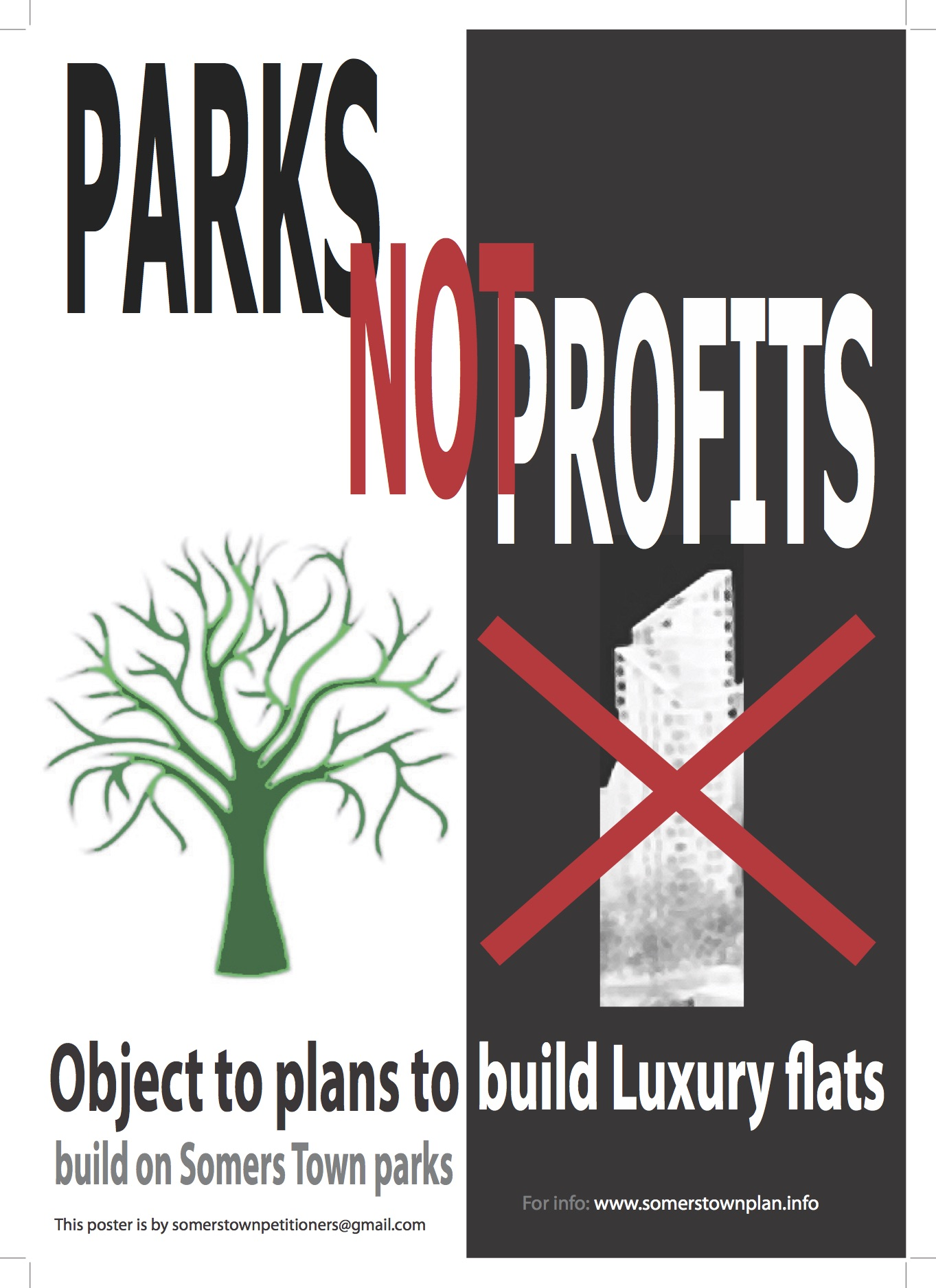 Parks not profits flyer.