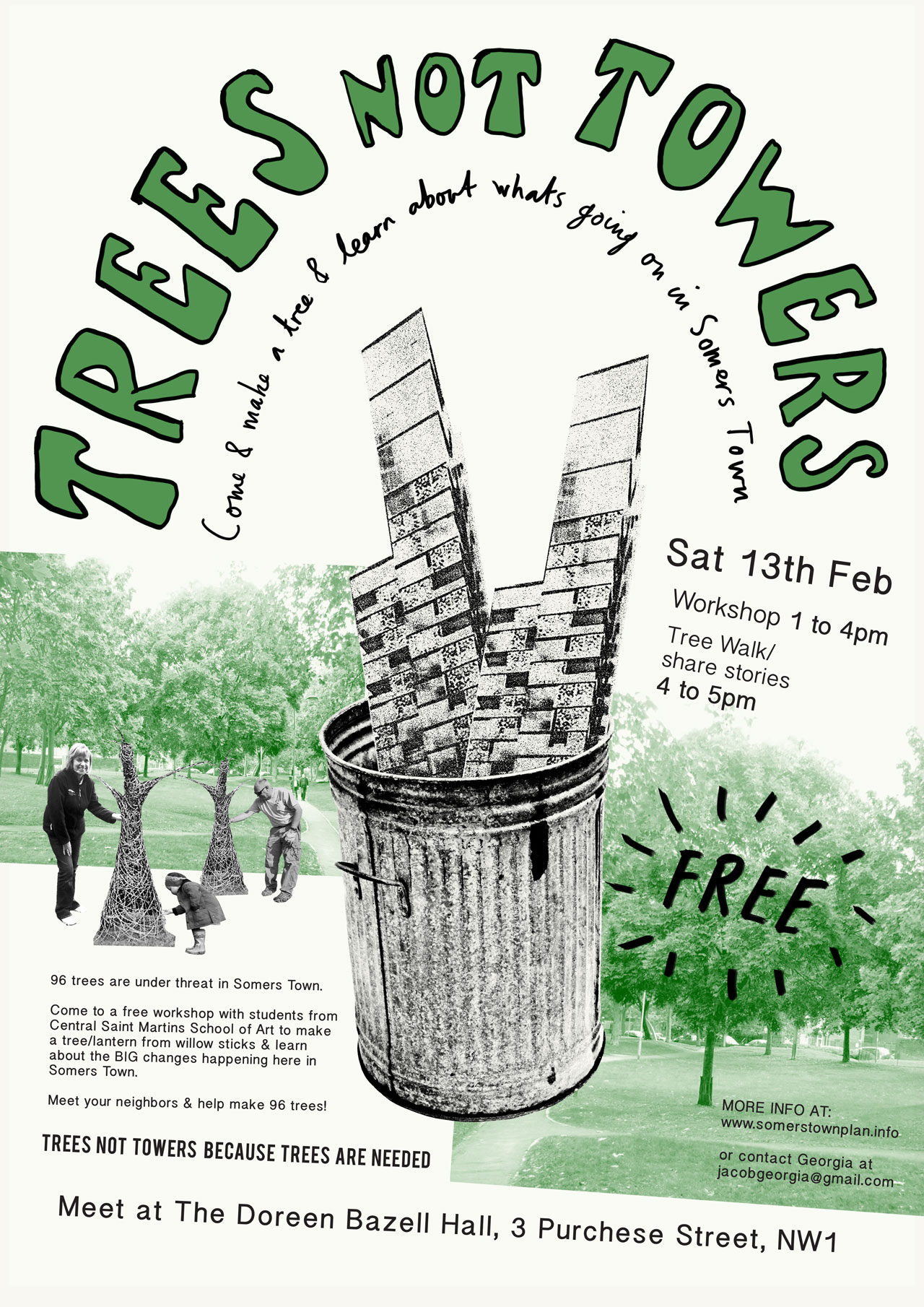 Trees not towers poster.