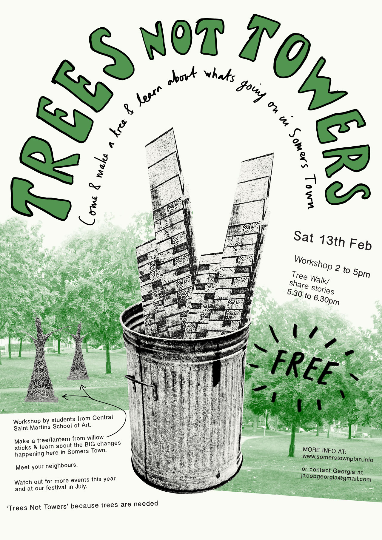 Workshop poster trees not towers.