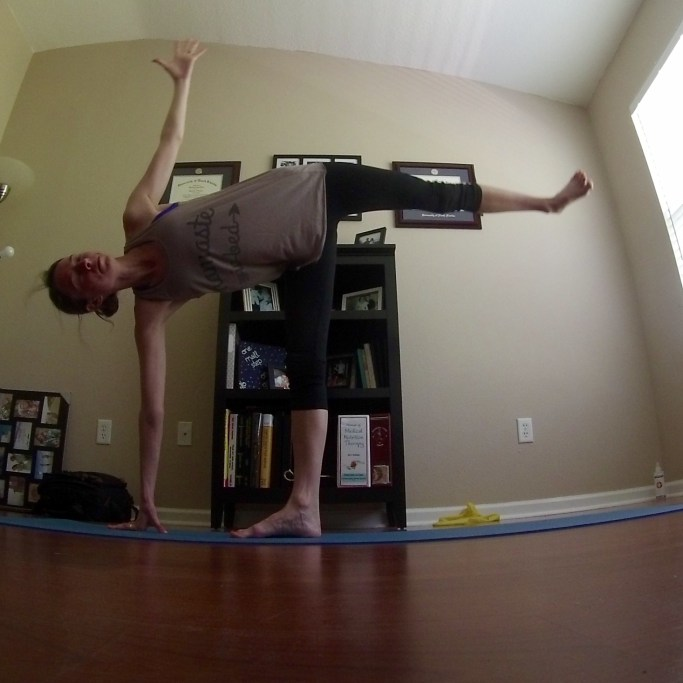 Yoga Challenge Day 14: Half Moon Pose - Some Shananagins