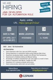 Hiring Java Developer for QA