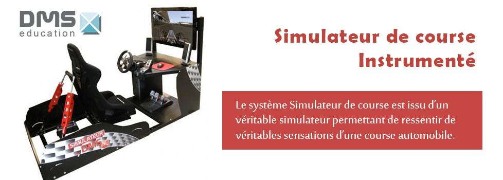 Simulateur de course instrumenté