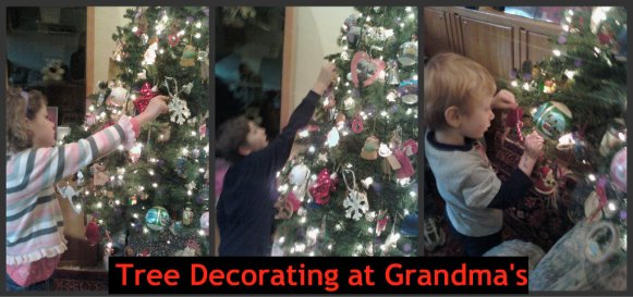 Christmas Tree decorating at grandma's house