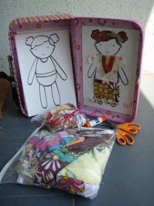 fabric scrap doll kit