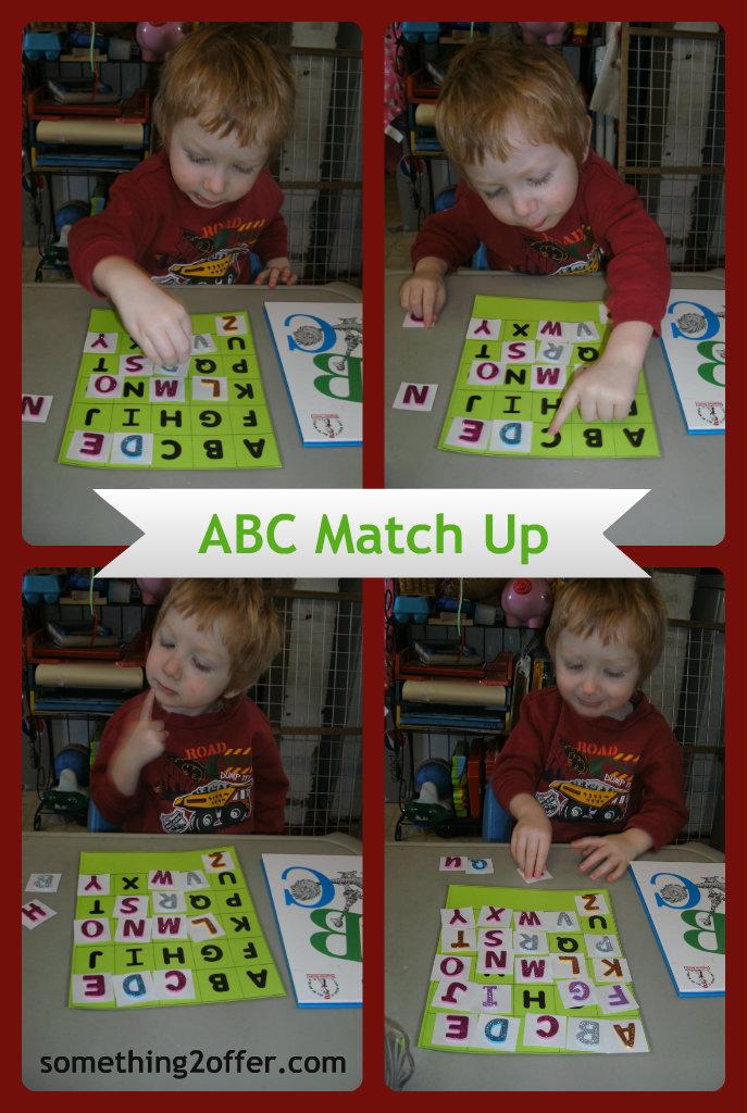 Foam sticker ABC match