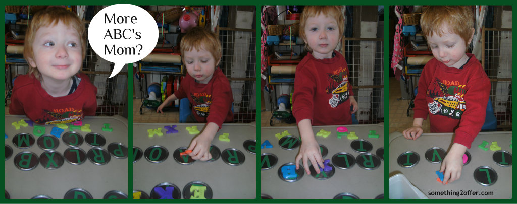 magnetic ABC juice lid game