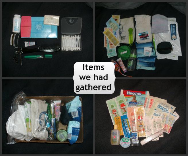 Toiletries we own for emergency preparedness