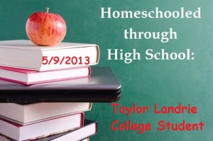 homeschooled through high school taylor landrie