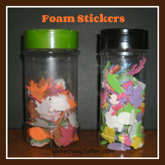 foam stickers and spice shakers