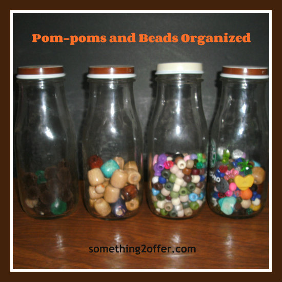 frappe bottles and beads and pom-poms
