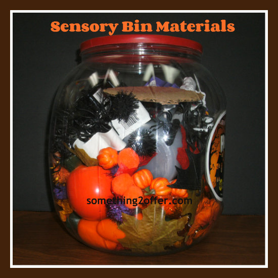 sensory bin materials