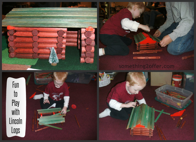 Fun to Play Lincoln Logs Collage