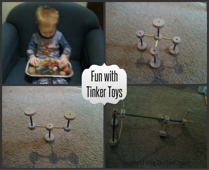 Fun with tinker toys Collage