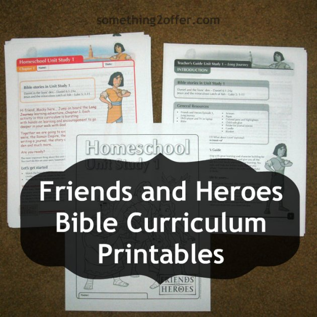 Friends and Heroes Printables