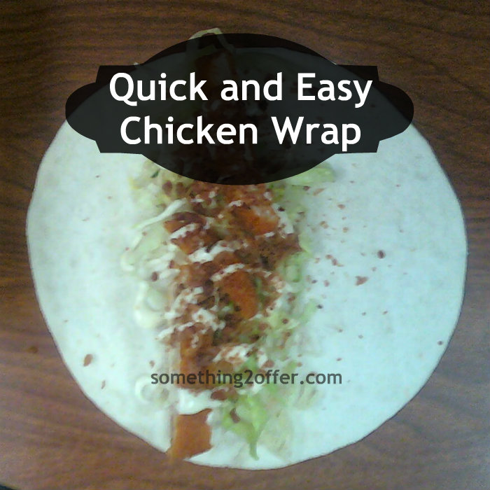 chicken wrap done