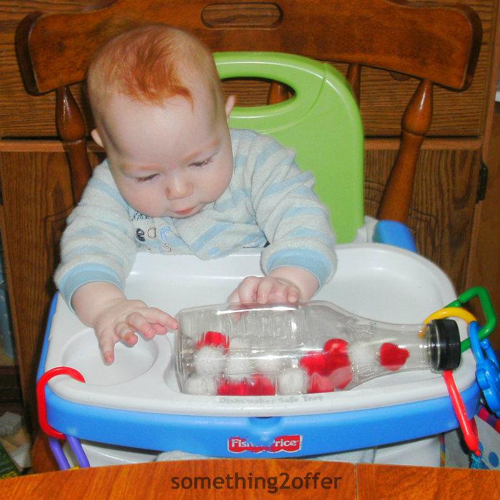 pom-pom sensory bottle baby school