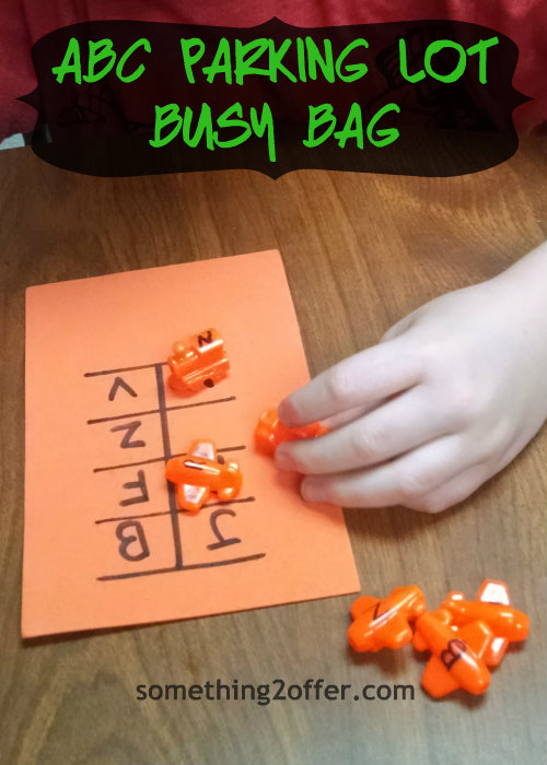 #BusyBag with ABC vehicle parking lot