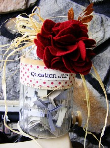 Questions Jar from Keeping Life Creative