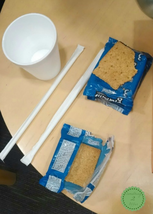 ER crackers and water