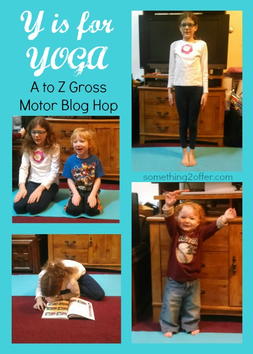 Y is for Yoga gross motor collage