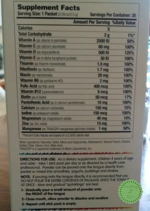 alernavites nutrition facts