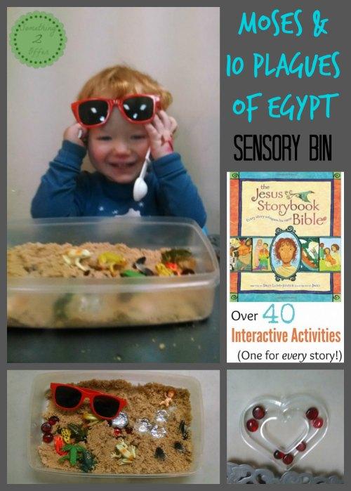 Moses & 10 plagues of Egypt Sensory Bin