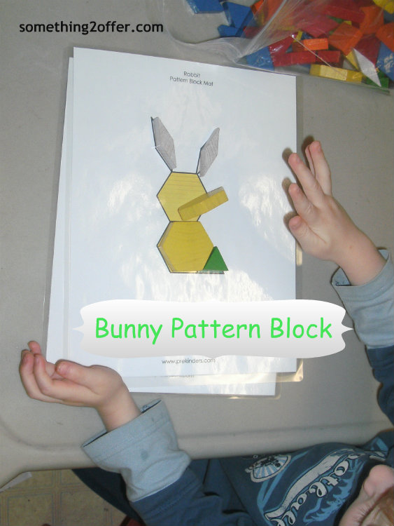 Bunny Pattern Block printable from Prekinders