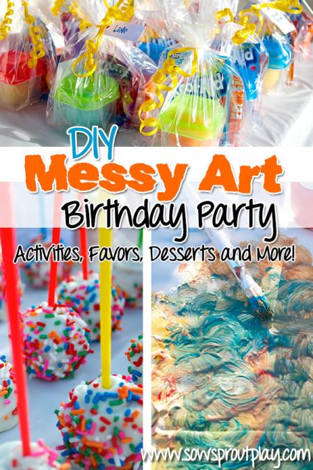 messy art birthday