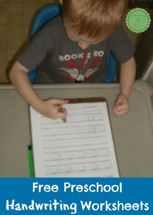 Free Handwriting Worksheets for Preschool