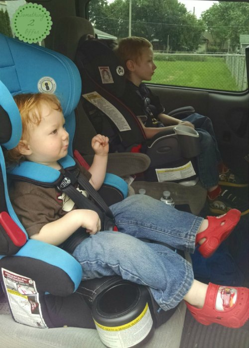 boys in child restraints