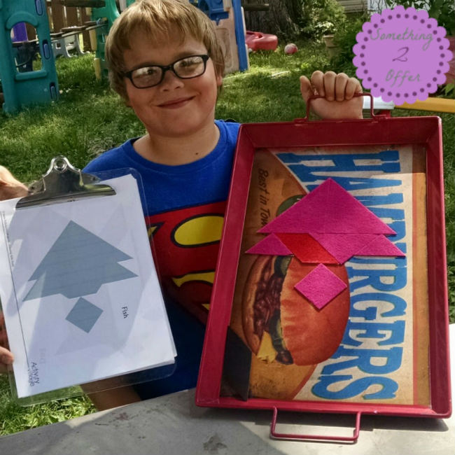 completed tangram puzzle