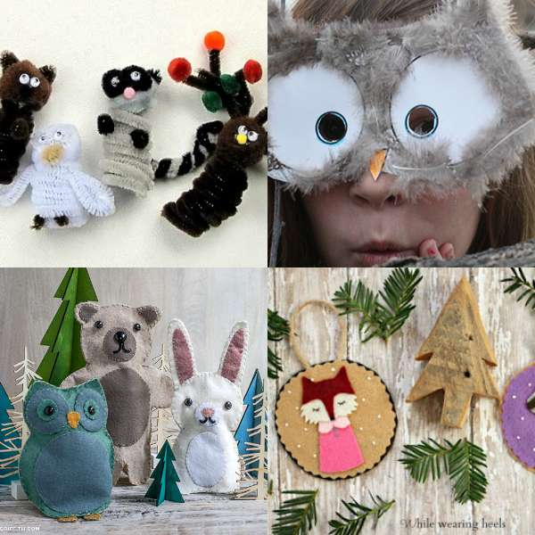 woodland forest animal crafts